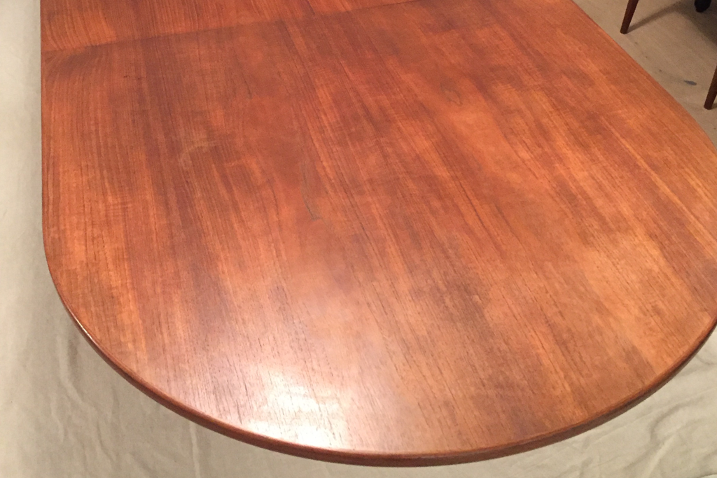 Table Wood Damaged, poor lacquered, Scratches