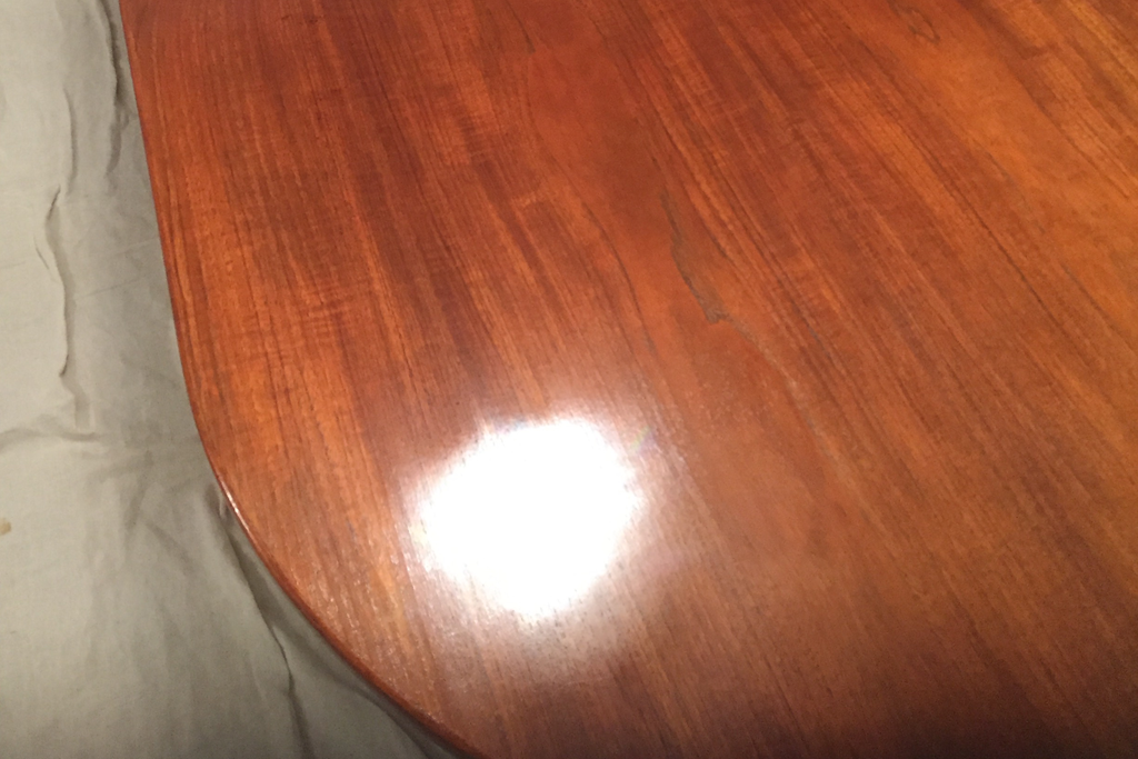 Table Wood Scratch Damage restored